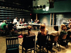 First day of rehearsal for Hamlet